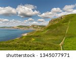 south west coast path with a... | Shutterstock . vector #1345077971