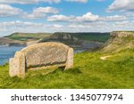 stone bench at the south west... | Shutterstock . vector #1345077974