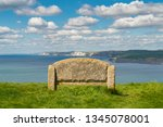 stone bench at the south west... | Shutterstock . vector #1345078001