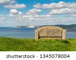 stone bench at the south west... | Shutterstock . vector #1345078004