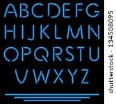 realistic tube letters. vector... | Shutterstock .eps vector #134508095