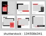 new set of editable minimal... | Shutterstock .eps vector #1345086341