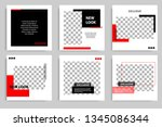 new set of editable minimal... | Shutterstock .eps vector #1345086344
