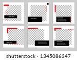 new set of editable minimal... | Shutterstock .eps vector #1345086347