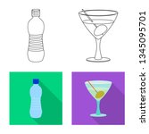 vector illustration of drink... | Shutterstock .eps vector #1345095701