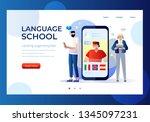 language school concept banner... | Shutterstock .eps vector #1345097231