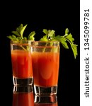 two shots of bloody mary... | Shutterstock . vector #1345099781