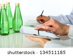 office   two businesswomen... | Shutterstock . vector #134511185
