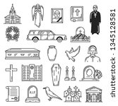 Funeral Vector Icons  Burial...