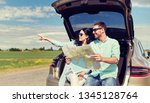 leisure  road trip  travel and... | Shutterstock . vector #1345128764