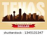 dallas texas city skyline... | Shutterstock .eps vector #1345131347