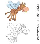 coloring pages for childrens... | Shutterstock .eps vector #1345133681