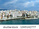 beautiful port city. city... | Shutterstock . vector #1345142777