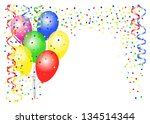 illustration of party balloons... | Shutterstock . vector #134514344