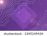 beautiful purple abstract... | Shutterstock . vector #1345149434