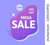 purple mega sale banner... | Shutterstock .eps vector #1345153931