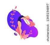 illustrations for beauty  spa ... | Shutterstock .eps vector #1345154897