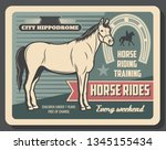 horse riding and hippodrome ... | Shutterstock .eps vector #1345155434