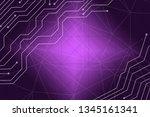 beautiful purple abstract... | Shutterstock . vector #1345161341