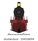 train locomotive vector | Shutterstock .eps vector #134518094