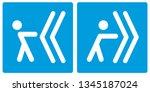 forward or backwards. slide to... | Shutterstock .eps vector #1345187024