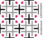 seamless tileable pattern with... | Shutterstock .eps vector #1345192694