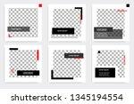new set of editable minimal... | Shutterstock .eps vector #1345194554