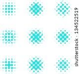 design halftone circle cell... | Shutterstock .eps vector #134522519
