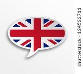 3d speech bubble   england | Shutterstock . vector #134522711