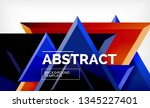 tech futuristic geometric 3d... | Shutterstock .eps vector #1345227401