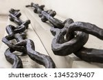 Small photo of Istanbul, Turkey May 06, 2018: Istanbul Archaeological Museum. The Istanbul Archaeology Museums. Landmark Istanbul. Portion of chain used to close off entrance to Golden Horn.