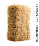 dry haystack isolated on white... | Shutterstock . vector #1345242167