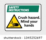 safety instructions crush...   Shutterstock .eps vector #1345252697