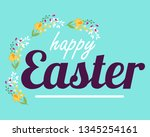happy easter hand drawn...   Shutterstock .eps vector #1345254161