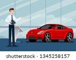 a happy businessman  salesman... | Shutterstock .eps vector #1345258157
