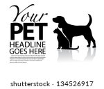 Stock vector dog and cat silhouette template eps vector grouped for easy editing no open shapes or paths 134526917