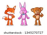 animal dolls mascot vector... | Shutterstock .eps vector #1345270727