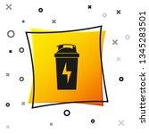 black fitness shaker icon... | Shutterstock .eps vector #1345283501