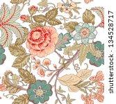 vintage flower pattern | Shutterstock .eps vector #134528717