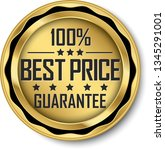 best price guarantee golden... | Shutterstock .eps vector #1345291001