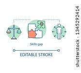 skills gap concept icon. lack... | Shutterstock .eps vector #1345292414