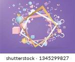 3d figures realistic vector...   Shutterstock .eps vector #1345299827