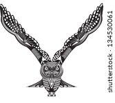vector illustration of wild... | Shutterstock .eps vector #134530061