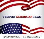 set of american flag clip art.... | Shutterstock .eps vector #1345306217