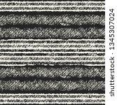 monochrome irregulary striped... | Shutterstock .eps vector #1345307024