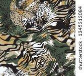 animal print  leopard texture... | Shutterstock .eps vector #1345313084