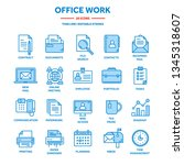 business and office work.... | Shutterstock .eps vector #1345318607
