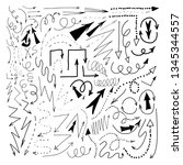 vector hand drawn different...   Shutterstock .eps vector #1345344557
