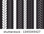 plait and braids pattern brush... | Shutterstock .eps vector #1345345427
