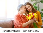 happy mother's day  adult... | Shutterstock . vector #1345347557